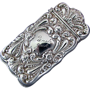Sterling Silver Gilbert Company Match Safe / Vesta