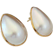 14K Large Mabe Pearl Earring