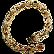 12.1 Grams, 14K YG Woven Link Bracelet