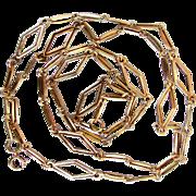 "14K Italian Art Deco Gold Link Necklace 30"", 16.2 grams"