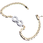8 Grams, 14K YG&WG Diamond Bracelet