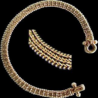 9.7 Grams, 14K Yellow Imperial Gold Bracelet