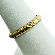 14K YG Textured Band Ring Size 7