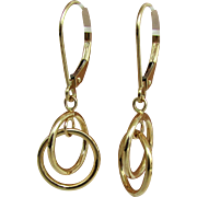 14K Linked Circles Earrings by JACMEL