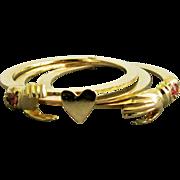 14K YG Gimmel Fede Ring