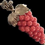 10K YG Coral Grapes Pin