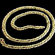 "10.1 Grams, 14K Italian Yellow Gold Figaro Chain Necklace 20"""