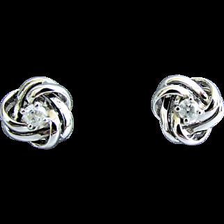 14K WG Diamond Earrings