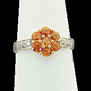 14K YG Citrine and Diamond Ring Size 8