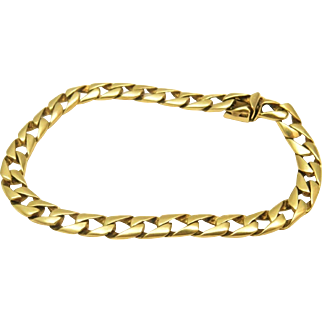 "20 Grams, 14K YG Curb Link Bracelet (8 1/2"" Closed)"