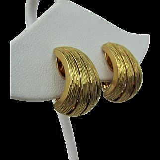 """18K YG Tiffany & Co. Gold """"J"""" Hoop Earrings"""