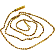 14K YG Rope Chain 14 1/2 Inches