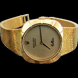 18K YG Lady's Cellini Rolex Watch Model No. 3878