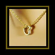 Custom Made 14K Yellow Gold Heart Pendant