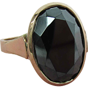 8K Rose Gold Faceted Hematite Ring Size 7 1/2