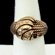 Custom Made 18K YG Ring Size 6 1/2, 8.6 Grams