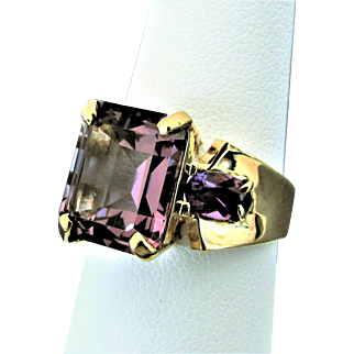 10K YG Amethyst Ring Size 8