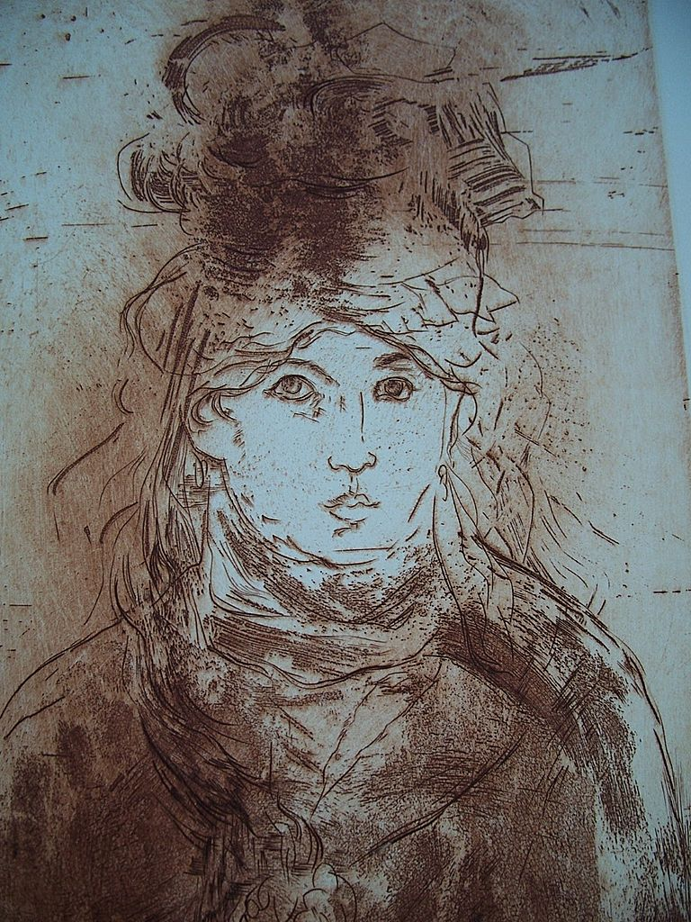 HOMAGE TO MANET   Jack Coughlin  signed  original etching