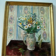 Mortimer Borne , Oil Painting, Floral