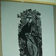 Thomas Jefferson   AAA  Woodcut  by Jacob Landau,  listed artist