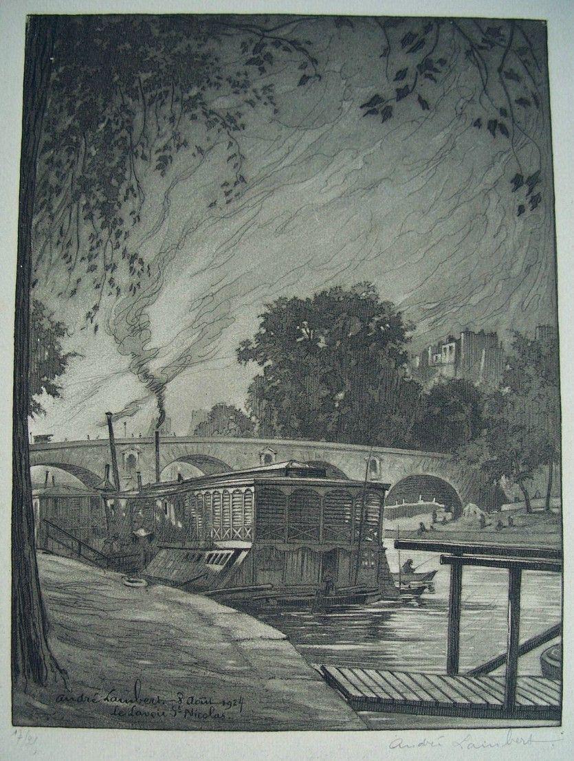 Andre Louis Lambert  1884-1967  French  Aquatint