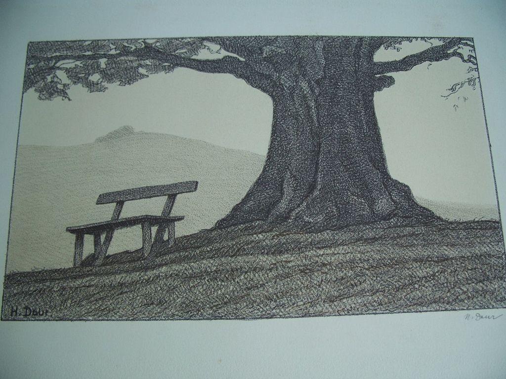 Hermann Daur   German Artist   Signed Lithograph