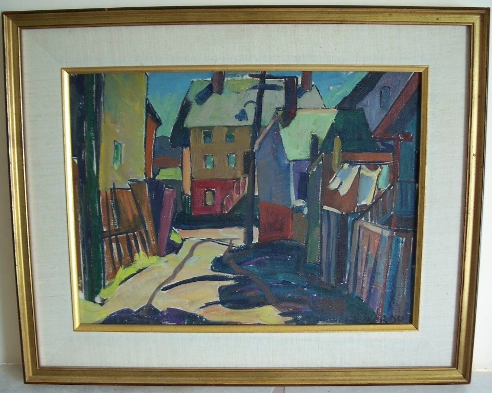 "Gloucester Impressionist  painting  ""Louise L Emerson""   RI  artist"