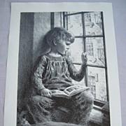 "James Chapin""Child at Window""  AAA Original litho"