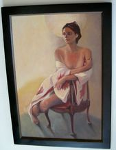 """""""Nude In A Chair"""" 20th C  American school"""