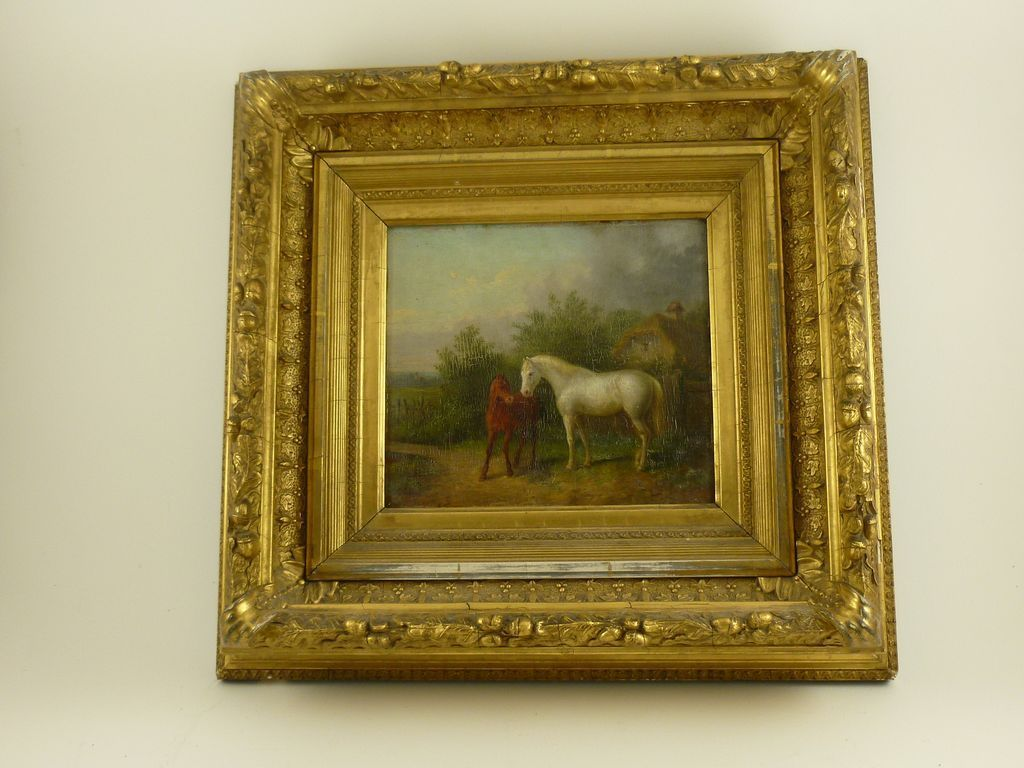 """""""Mare with Foal"""" Classical style oil painting"""