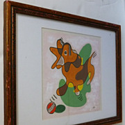 Spot the Dog  1940s abstract painting  John Colman