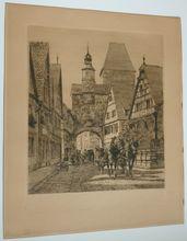 Ernst Haymann  Rothenburg etching