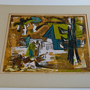 """""""The Woodpile """"  Lee Purcell  California art 1951"""