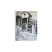 "David T Grose  "" Shore House""   Lithograph"