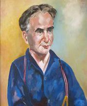 Portrait of artist Mortimer Borne   Oil Painting