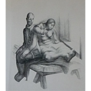 Julio Castellanos, Mexican artist,rare 1931 lithograph