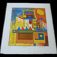 Scott Prior  1971 Original Lithograph