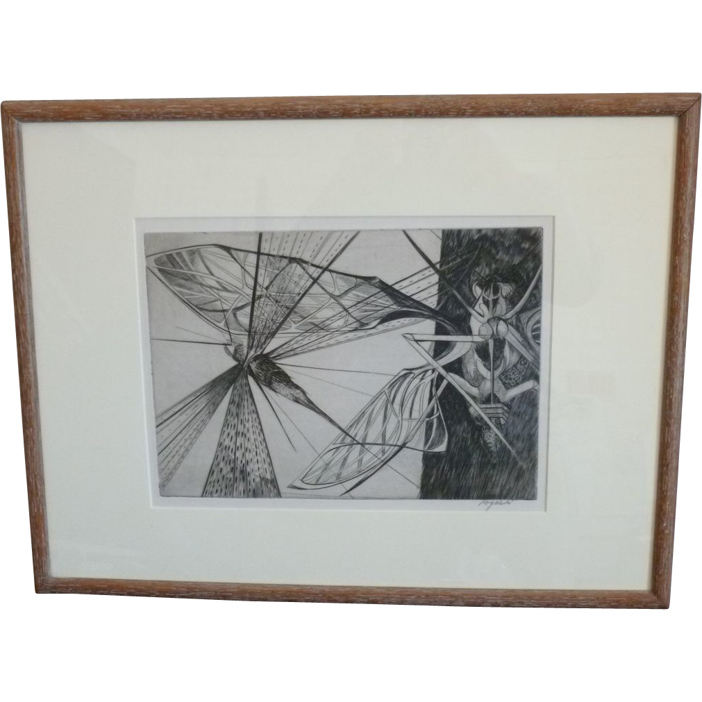 "Walter Rogalski  ""Locust""  Cleveland Print Club"
