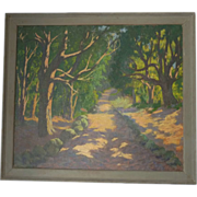 Arts and Crafts Era   Large  Oil  Landscape
