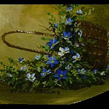 Mary Elizabeth Parsons , oil, California Wildflowers