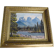 The Three Sisters Mountains, Oil Painting, John Scott