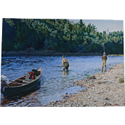 Miramichi Morning  ,Sporting painting by Henry McDaniel