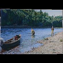 Miramichi Morning  ,Sporting painting by Henry McDaniel