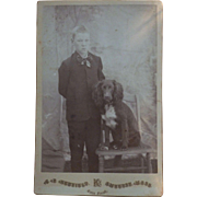 Boy with spaniel Dog CDV