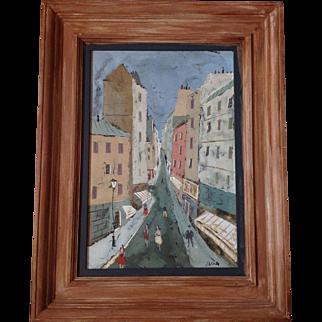 Charles Levier , PARIS STREET scene , OIL painting B