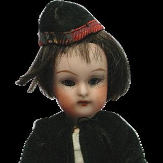 """Antique K*R Krammer & Reinhardt Simon & Halbig Scottish Doll 6"""" TERRIFIC"""