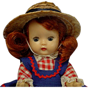 Nancy Ann Storybook Muffie Dark Auburn Doll Original Dress