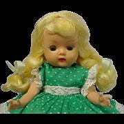 NANCY ANN Storybook MUFFIE Golden Blonde Braid Doll Muffie Dress