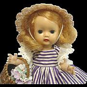 NANCY ANN Storybook MUFFIE Blonde Doll #601 Dress
