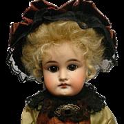 "Antique German Sonneberg Character Doll 6 Jumeau Face 17"""